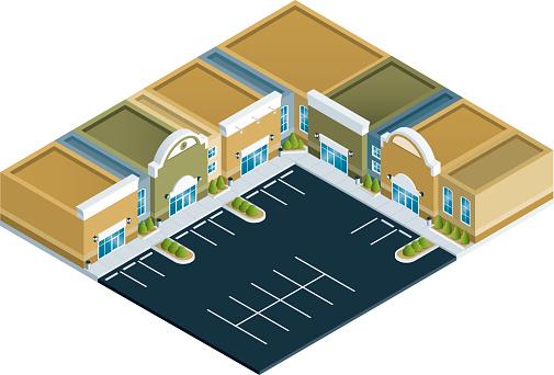 Isometric Strip Mall