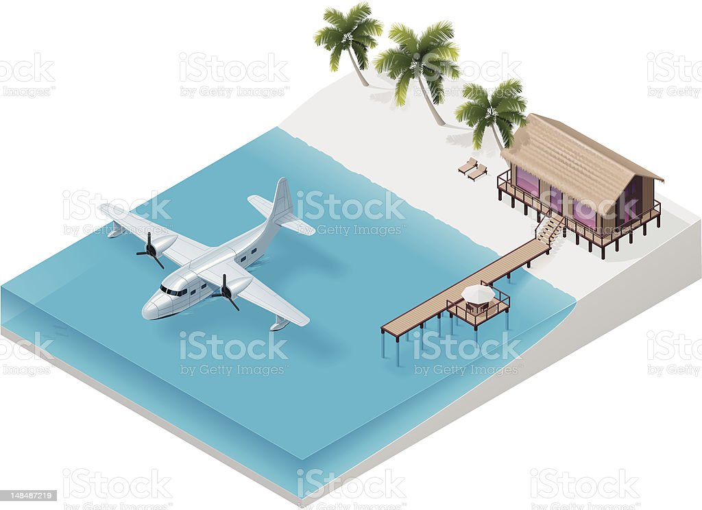 Isometric tropical resort royalty-free isometric tropical resort stock vector art & more images of air vehicle