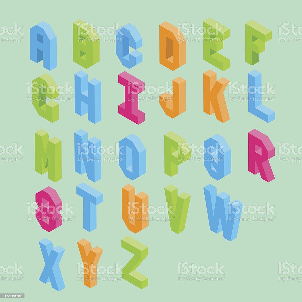 isometric typography royalty-free stock vector art