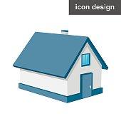 Isometric urban house
