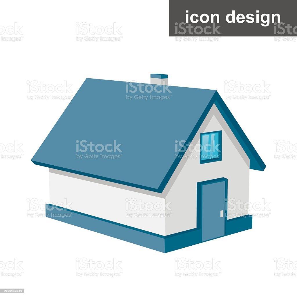 Isometric urban house vector art illustration