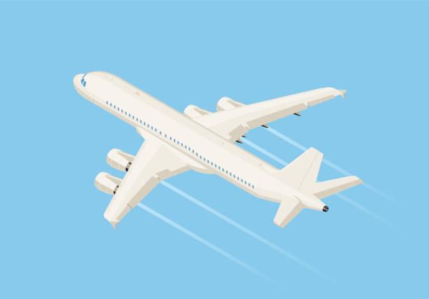 ilustraciones, imágenes clip art, dibujos animados e iconos de stock de isométrica - avión