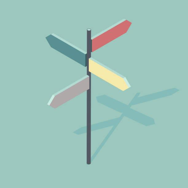 方向符號的等距向量圖 - 方向標誌 幅插畫檔、美工圖案、卡通及圖標