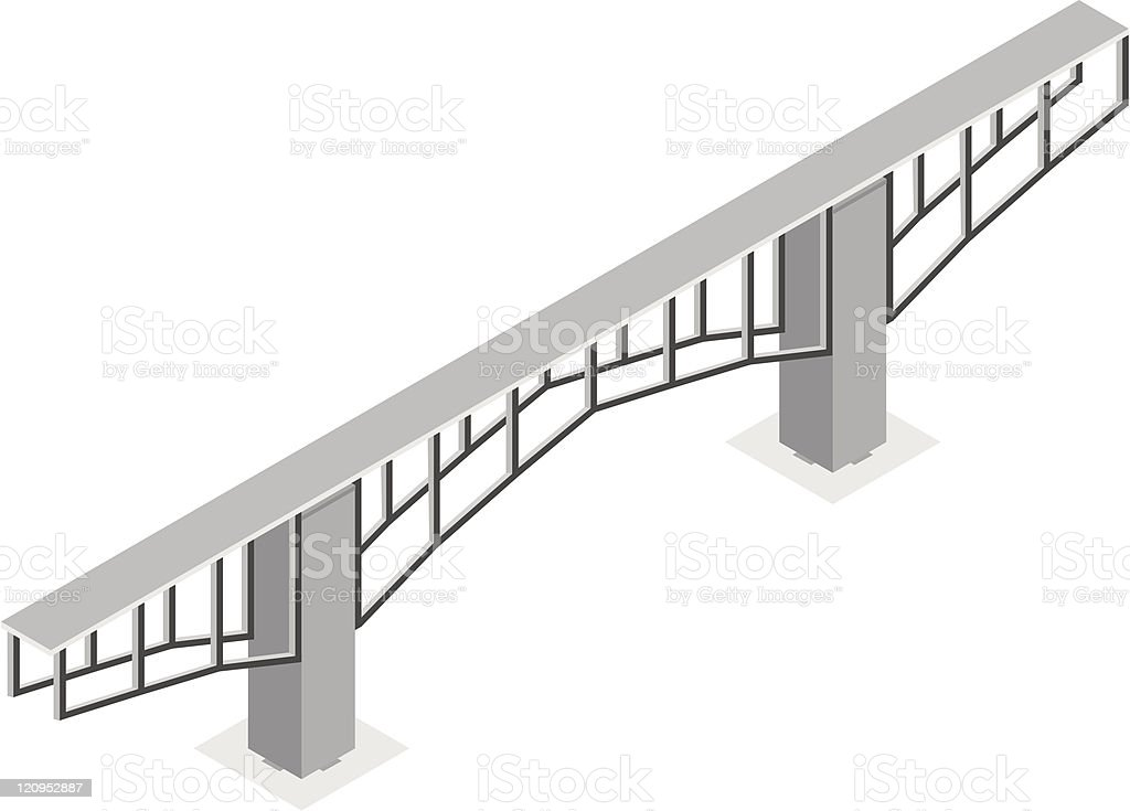 isometric view of the bridge, isolated on a white background royalty-free stock vector art