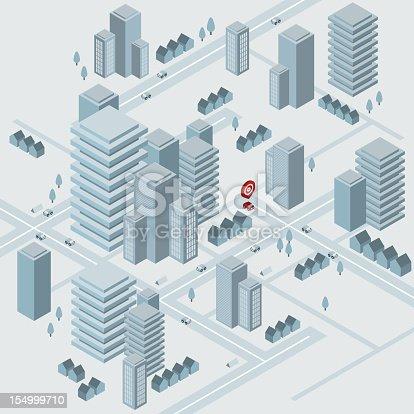 istock Isometric virtual city 154999710