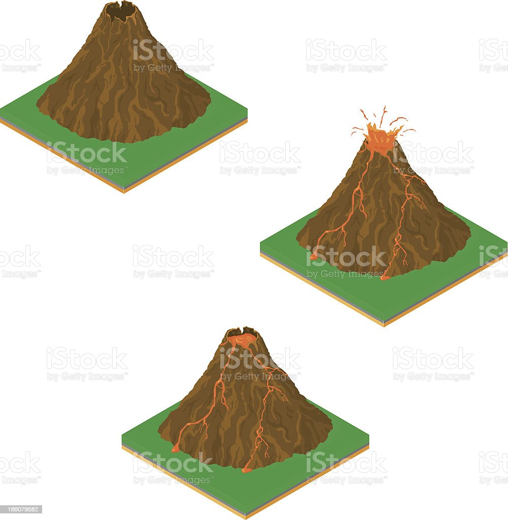 isometric volcano eruption stock vector art more images of clip rh istockphoto com volcano clipart black and white volcano clip art free