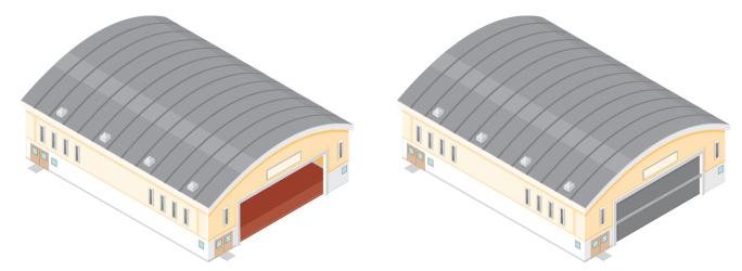 Isometric Warehouse Buildings