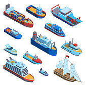 istock Isometric Water Transport Set 1299617266
