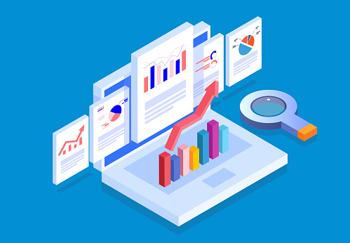 Isometric web pages and business data reports