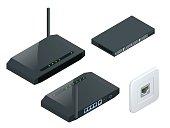 Isometric Wi-Fi wireless router
