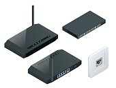 Isometric Wi-Fi wireless router