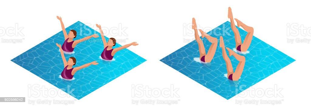 ba939544d91f Ilustración de Atleta De Womans Isométrica Sobre El Rendimiento De ...