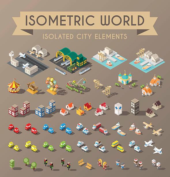 Isometric World. vector art illustration