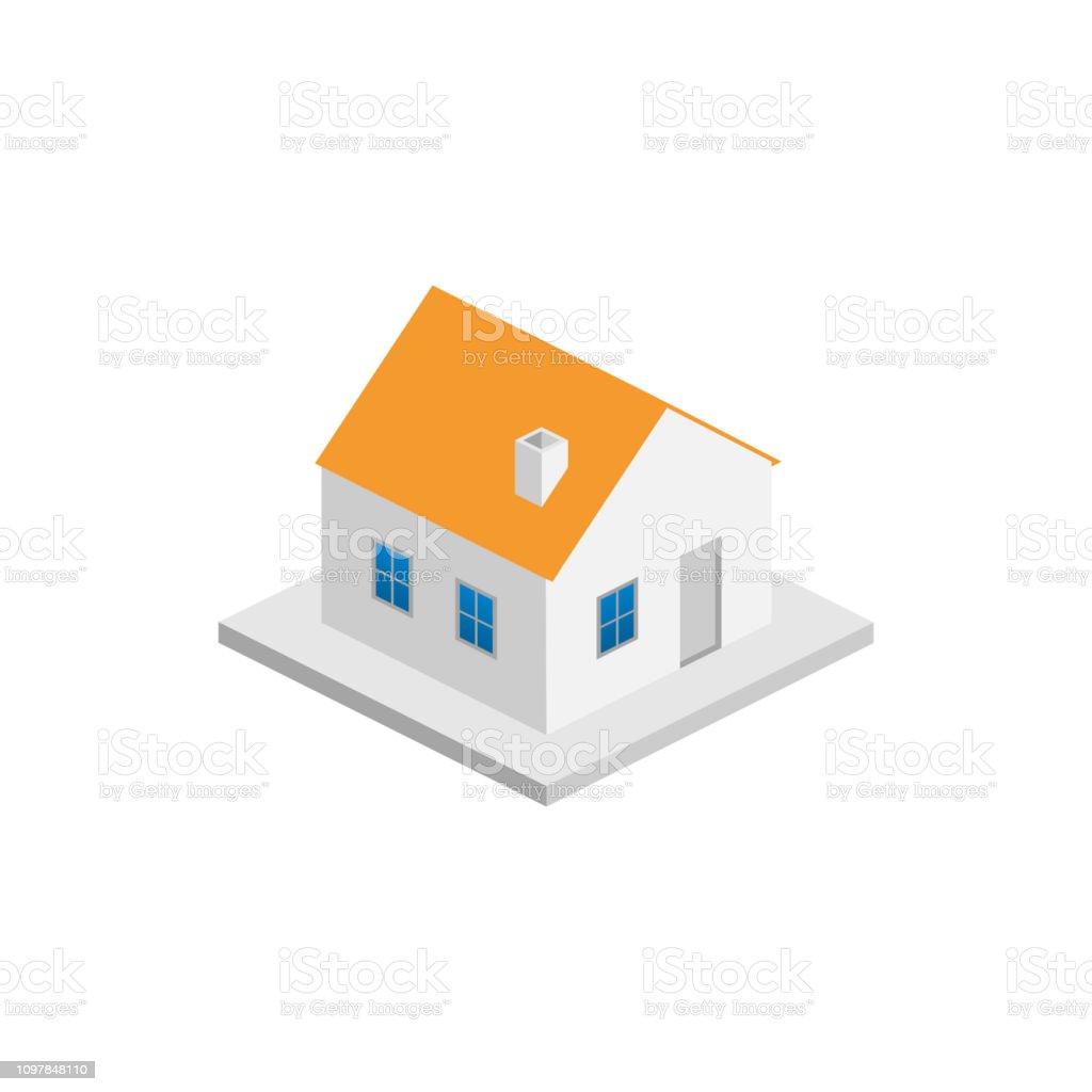 Isometric_building_20ed isometricbuilding20ed - immagini vettoriali stock e altre immagini di ambientazione esterna royalty-free