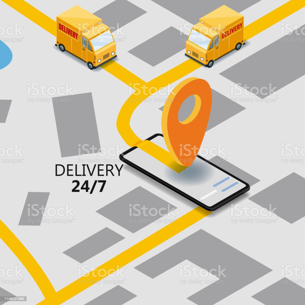 Isometry Express Cargo Delivery Route Navigation Map Of The