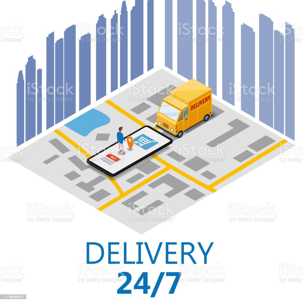 Isometry Express Cargo Delivery Route Navigation Map Of The City