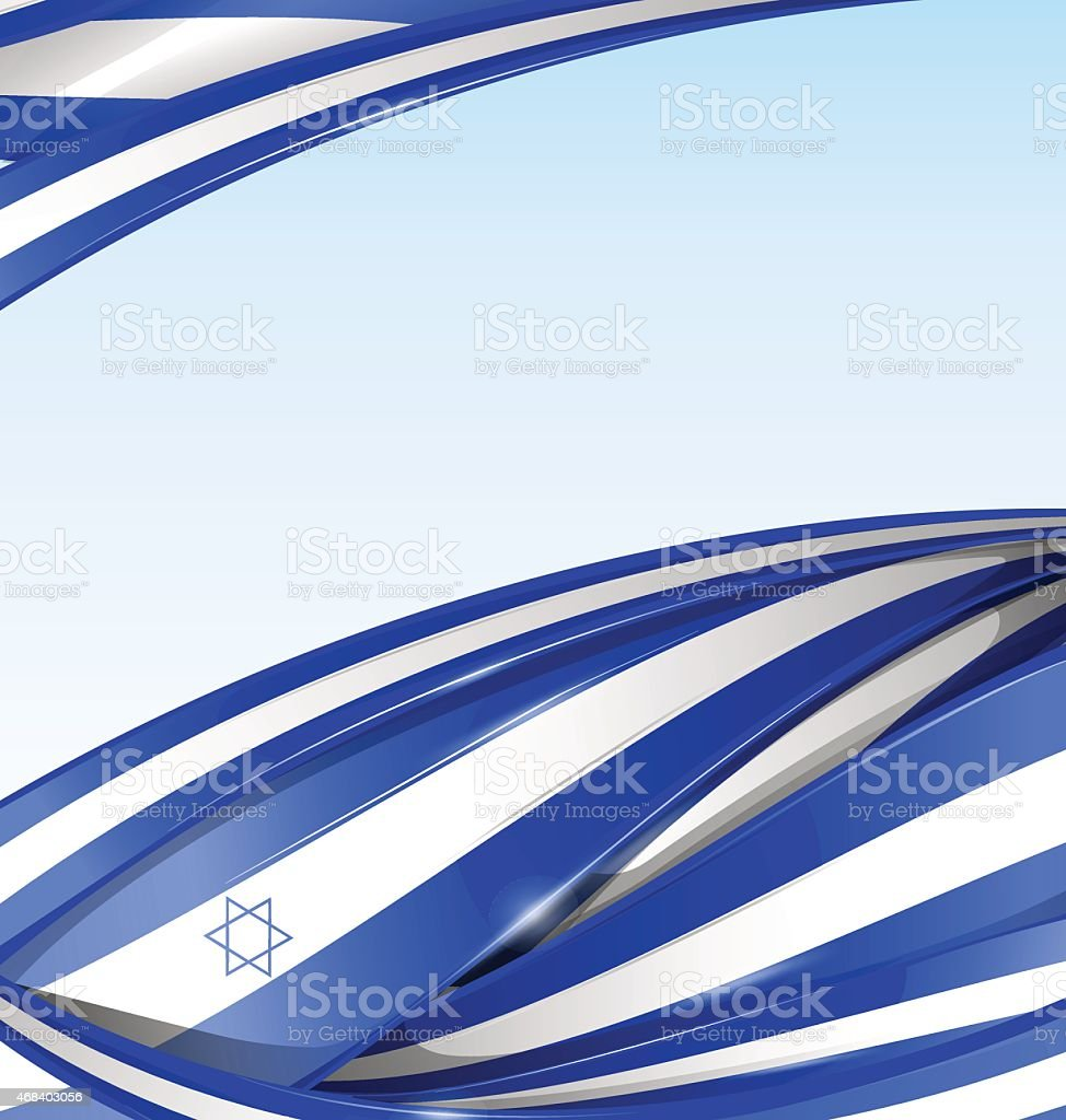 israel background with texture flag vector art illustration