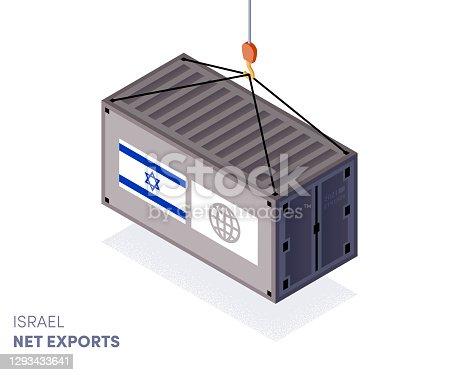 istock Israel Balance of Trade Infographic Design 1293433641