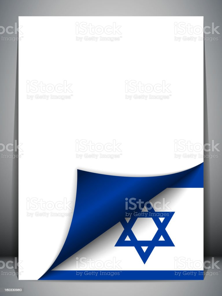Israel Country Flag Turning Page royalty-free stock vector art