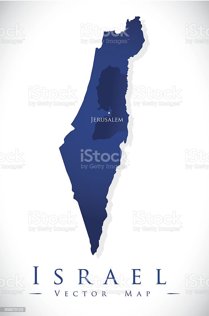 Israel design vector art illustration