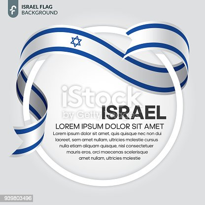 istock Israel flag background 939803496
