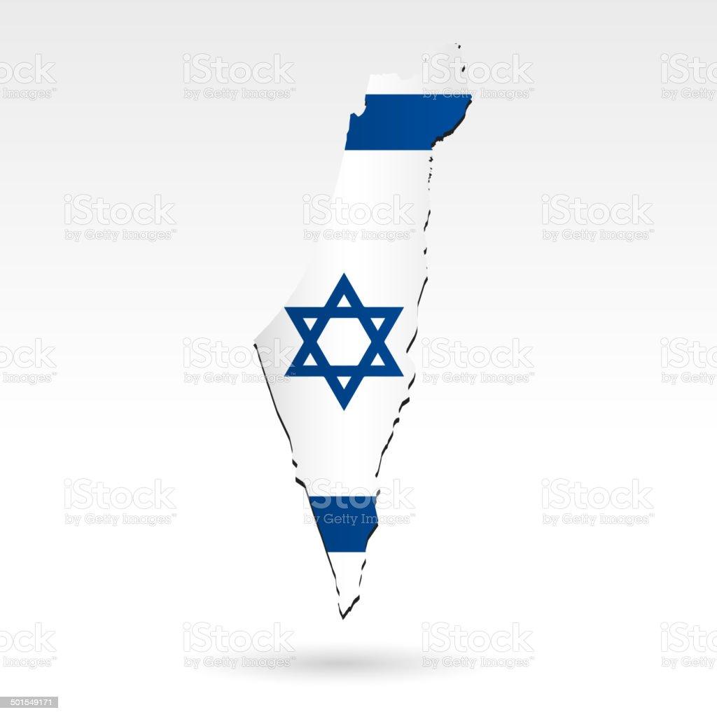 Israel flag map royalty-free stock vector art