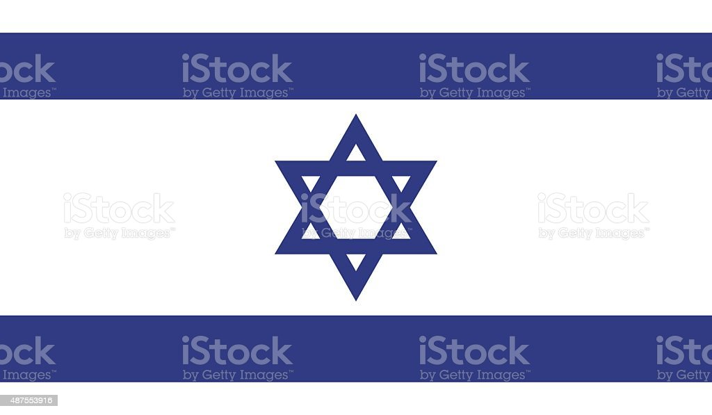Israel flag vector art illustration