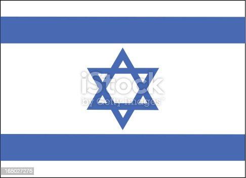 istock Israel Flag Vector 165027275