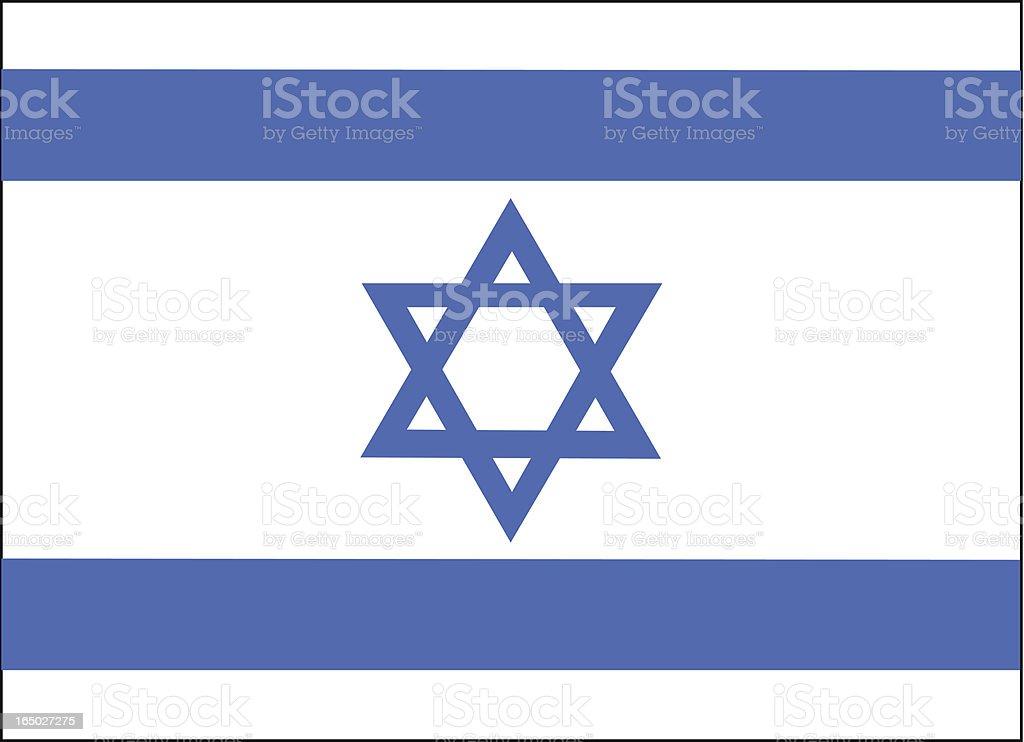 Israel Flag Vector vector art illustration