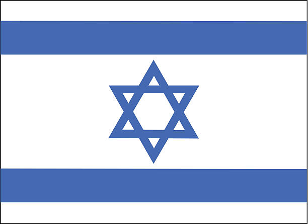 Israel Flag Vector Israel Flag Vector. AI and EPS file. Great for flags, t-shirts & billboard. star of david stock illustrations