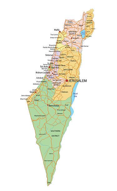 Royalty Free Israel Map Clip Art Vector Images Illustrations - Israel map