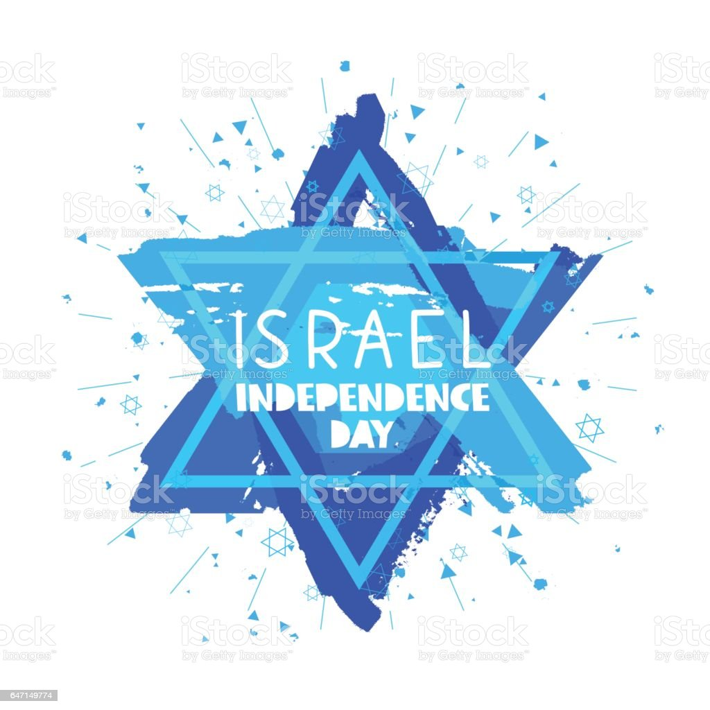 Israel. Independence Day. Card vector art illustration