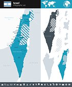 Israel - Infographic map - illustration