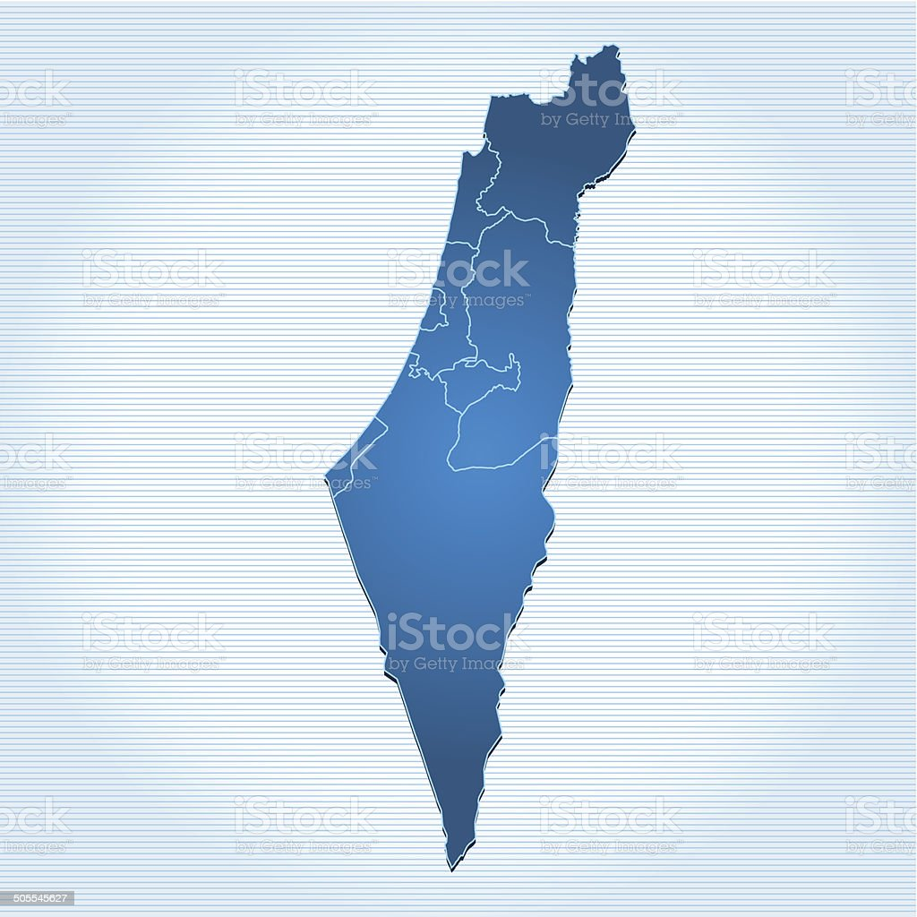 Israel map blue royalty-free stock vector art