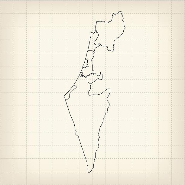 israel karten brown - haifa stock-grafiken, -clipart, -cartoons und -symbole