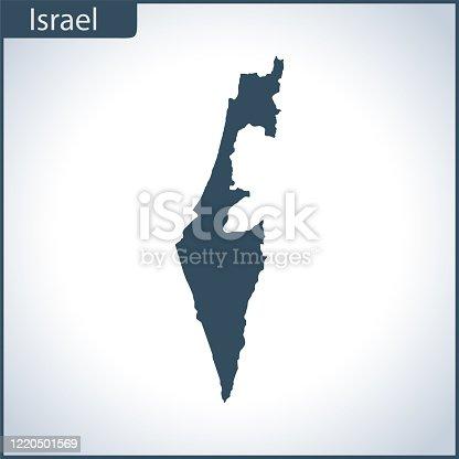 istock Israel map 1220501569
