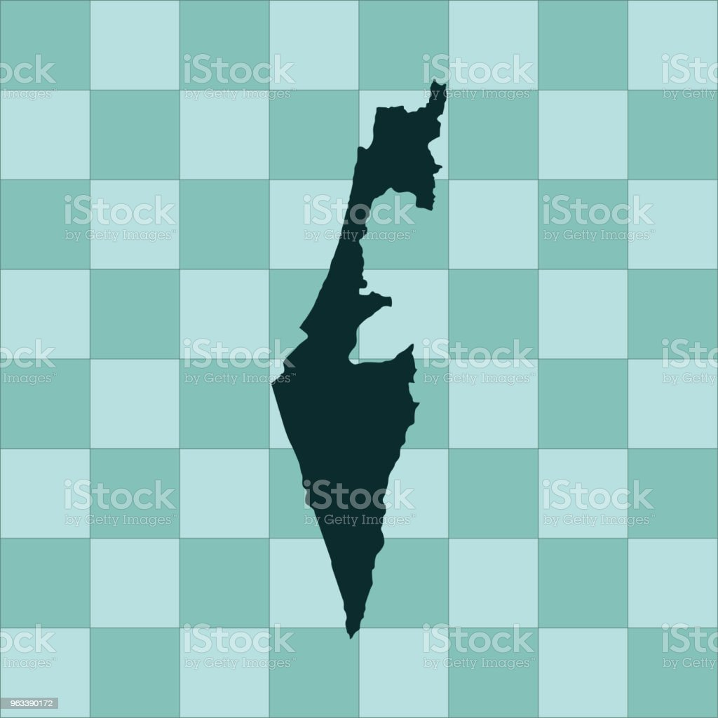 Israel map - Grafika wektorowa royalty-free (Azja)