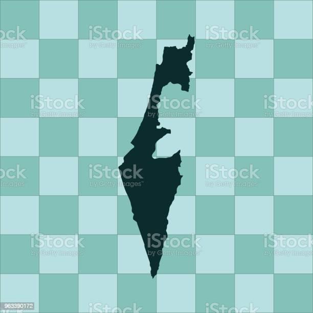 Mapa Izraela - Stockowe grafiki wektorowe i więcej obrazów Azja