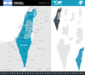 Map of Israel - Infographic Vector illustration