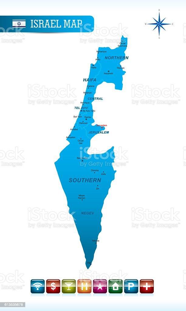 Ilustracin de israel vector map y ms banco de imgenes de alfiler israel vector map ilustracin de israel vector map y ms banco de imgenes de alfiler libre gumiabroncs Choice Image