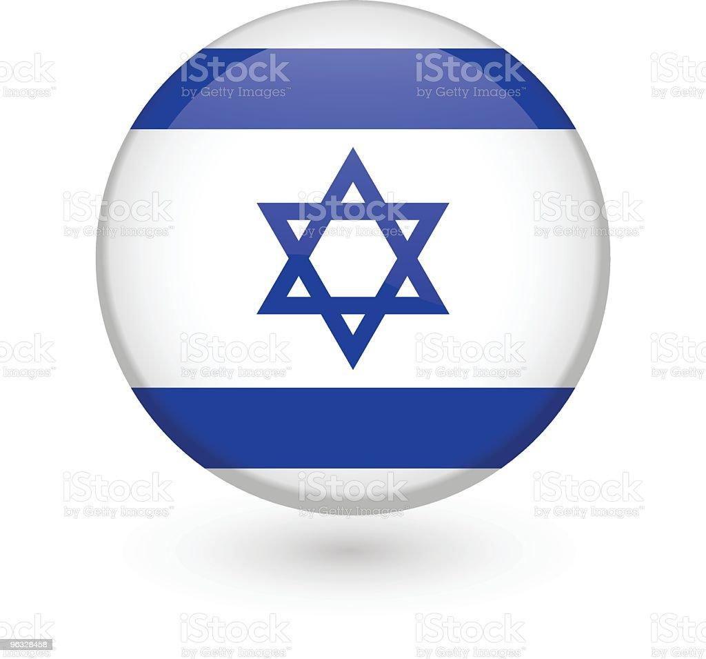 Israeli flag vector button royalty-free stock vector art