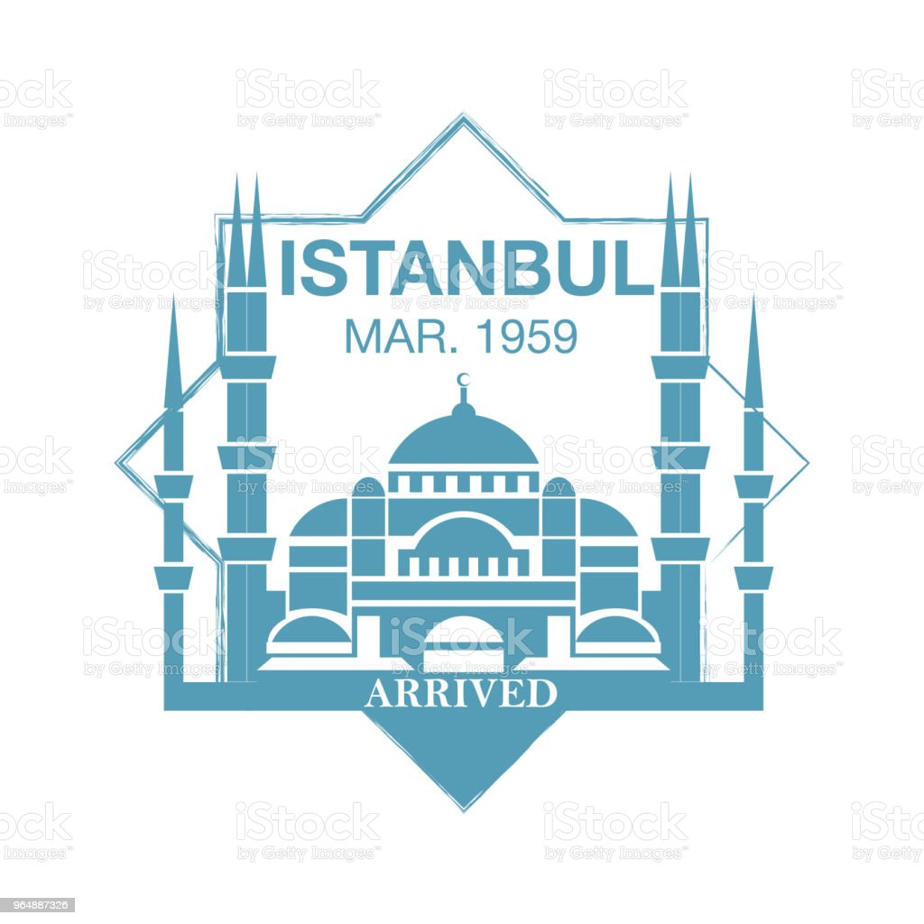 Istanbul arrival ink stamp on passport. royalty-free istanbul arrival ink stamp on passport stock vector art & more images of absence