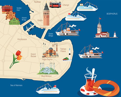 Istanbul Cartoon map