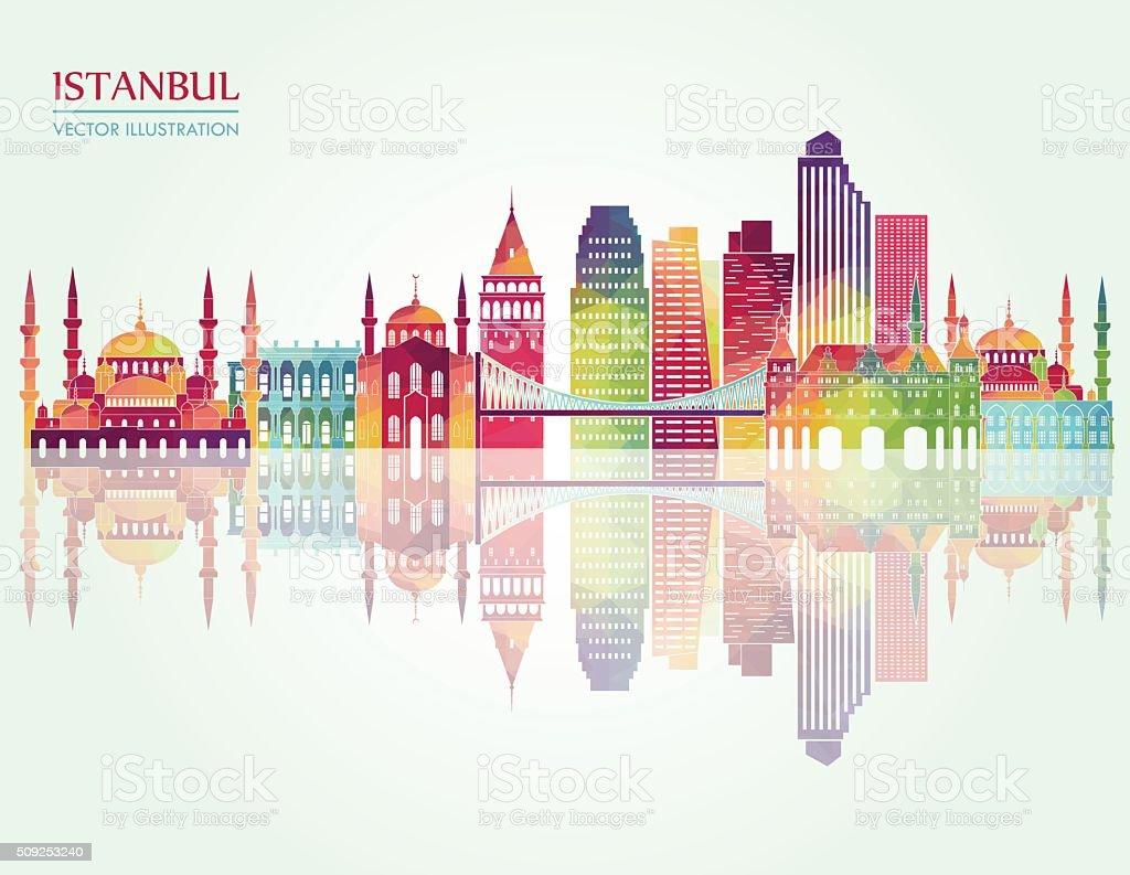 Istanbul detailed silhouette. Vector illustration vector art illustration
