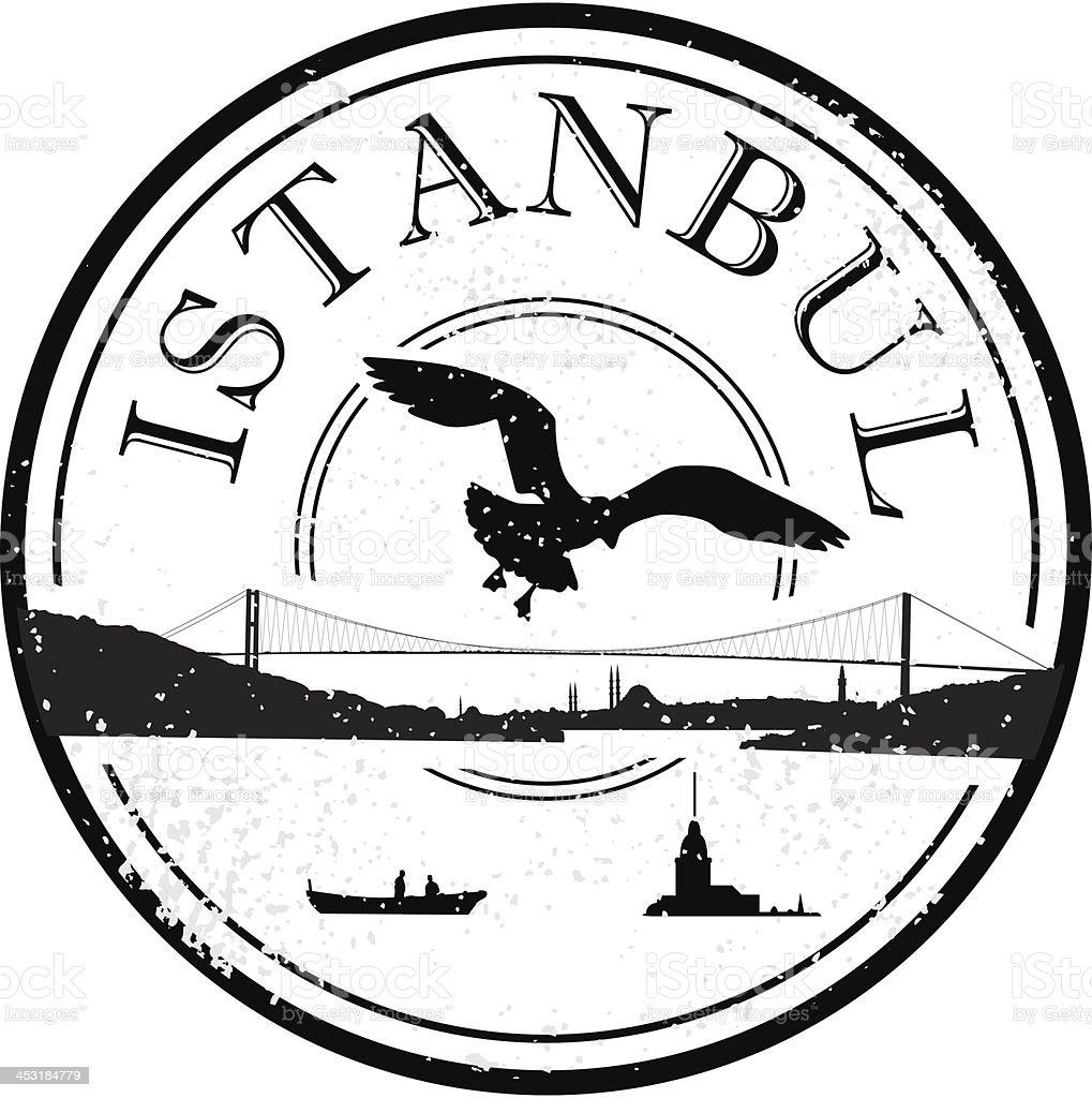 Istanbul grunge stamp vector art illustration