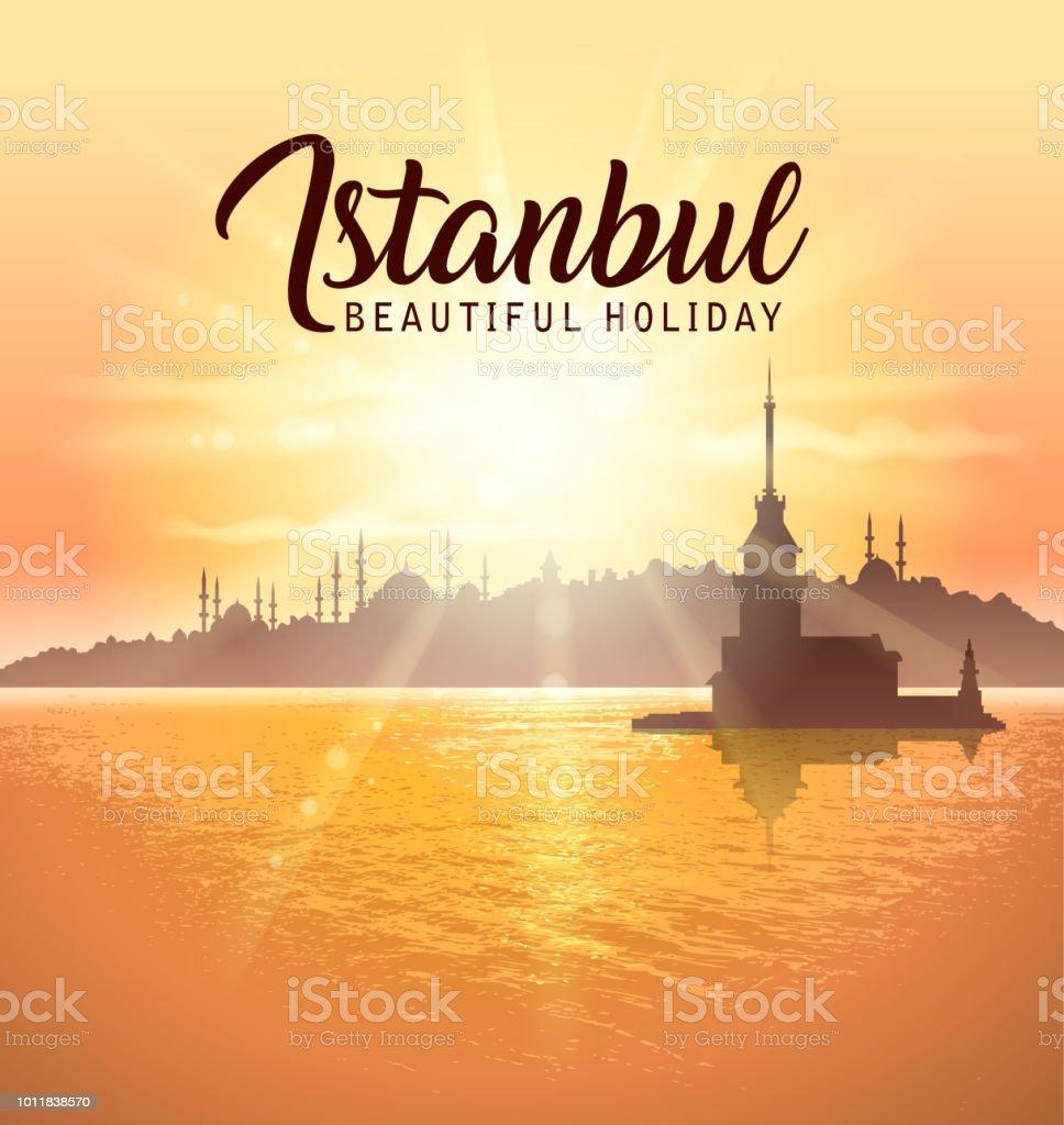 istanbul sign vector art illustration