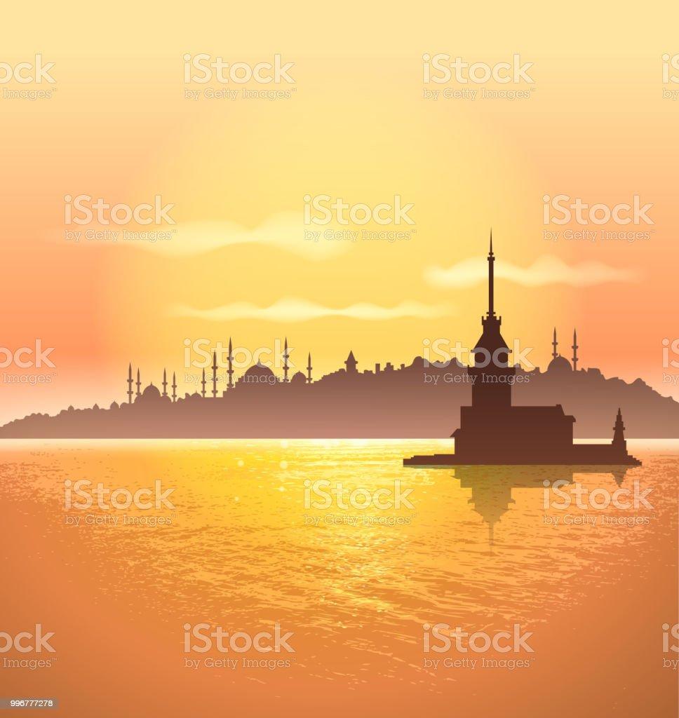 istanbul silhouette vector art illustration