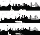 Vector Istanbul Skyline
