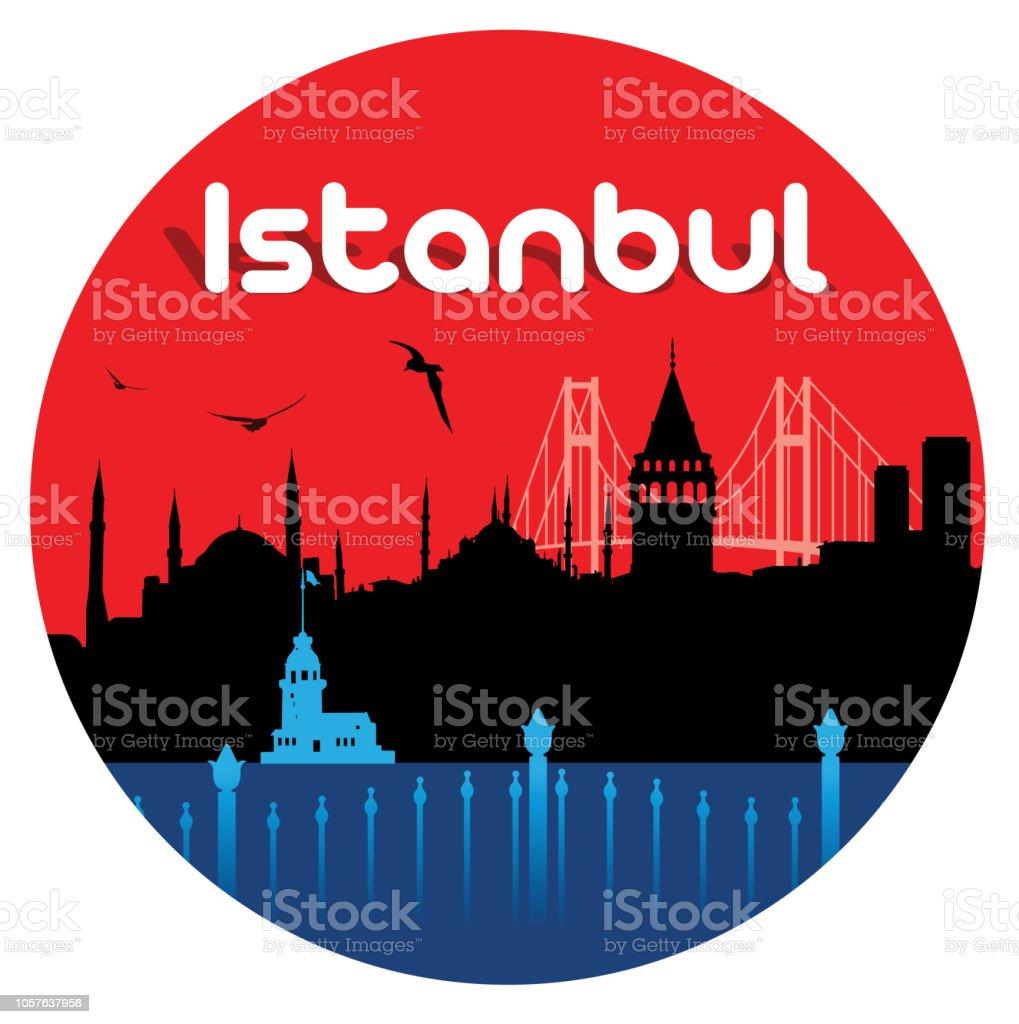 Istanbul Travel vector art illustration