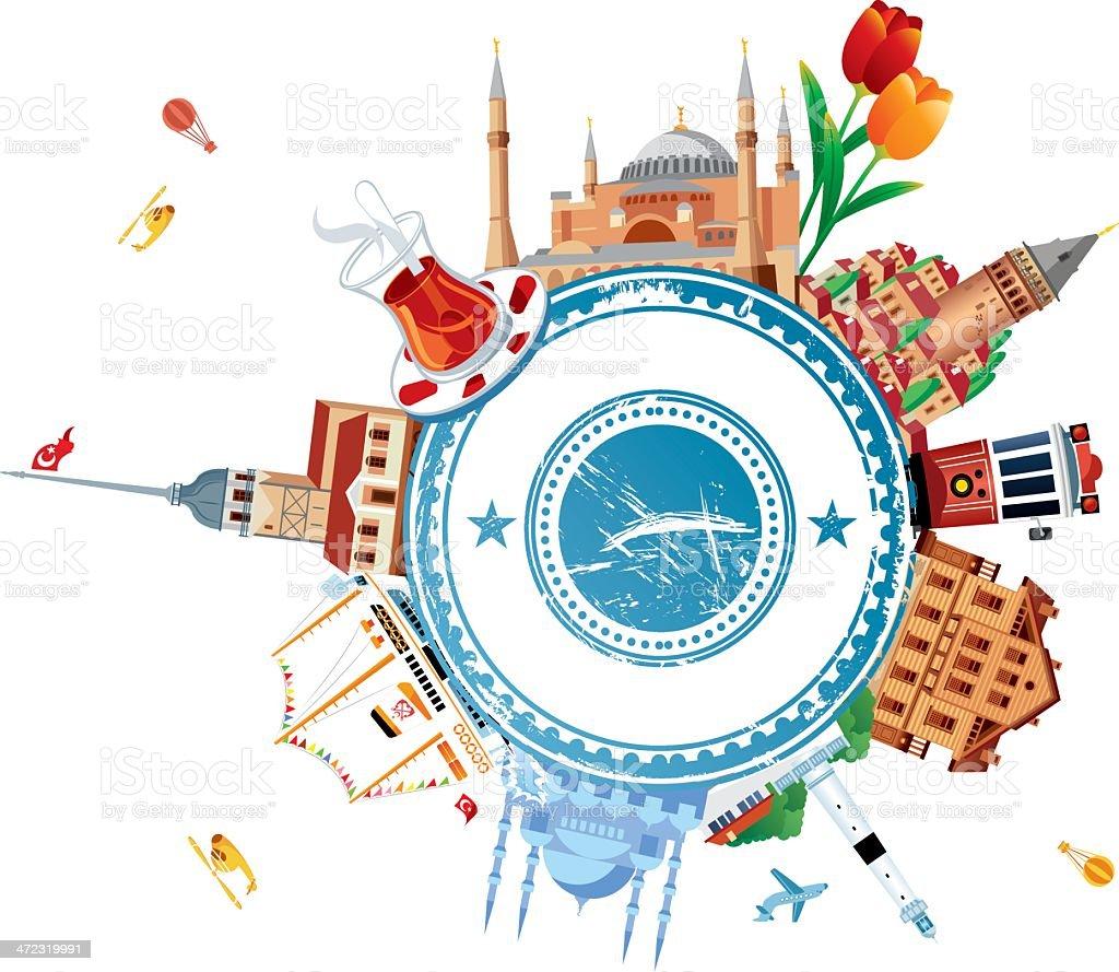 Istanbul Travel royalty-free stock vector art